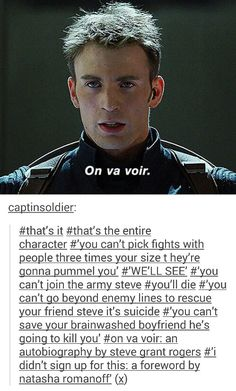 On va voir ~ Steve Rogers