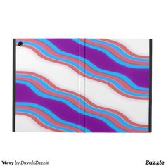 Wavy Ipad Folio Case  Available on many more products! Type in the name of this design in the search bar on my Zazzle Products page!  #wavy #wave #abstract #abstraction #art #phone #case #laptop #sleeve #accessory #computer #lifestyle #style #life #accessorize #accent #purple #line #red #blue #stripes #ripple #buy #sale #zazzle #forsale #iphone #apple #mac #electronic #gear