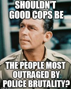 Yes!  I know there are good cops out there. Each and every one of them should be rising up for justice in the name of their reputation and chosen passion/profession.