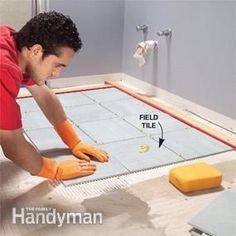 Install a Ceramic Tile Floor in the Bathroom | The Family Handyman