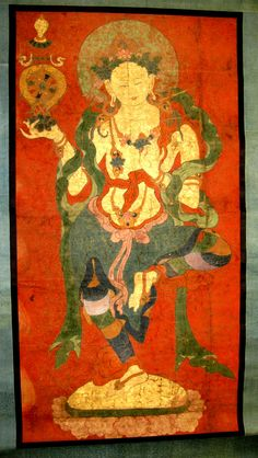 Buddhist Attendant, Possibly a Dakini. Date: late 18th century. Culture: Eastern Tibet.