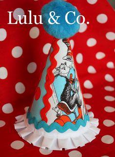 Vintage Dr. Seuss Stripwork Style Hat (front)