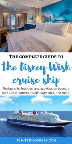 Disney Wish cruise ship: what you need to know - information about when booking is available, sailing dates and itineraries, and look at the staterooms, restaurants, activities, and more! All Disney Parks, Disney World Packing, Disney Cruise Tips, Disney Vacation Planning, Disney World Florida, Disney World Vacation, Disney Vacations, Disney Trips, Disney Nerd