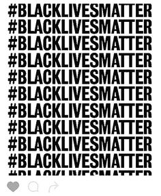 Black lives matters, a lot.