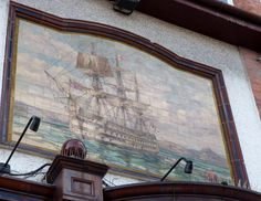 Tile from outside The Lord Nelson Arms Pub, South Wimbledon (3 of 3)