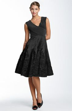 Adrianna Papell Matte Jersey & Taffeta Dress (Regular & Petite) available at #Nordstrom