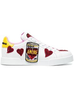 Dolce & Gabbana, Dolce Gabbana Sneakers, Leather Sneakers, Shoes Sneakers, Sneakers Fashion, Fashion Shoes, Stefano Gabbana, White Leather, Designer Shoes