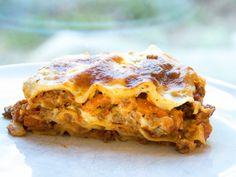 Lasagne med hjemmelagde pastaplater