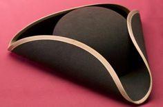 Paper pattern for tricorn hat on http://www.fi.edu/franklin/birthday/tri-corner.hat.pdf