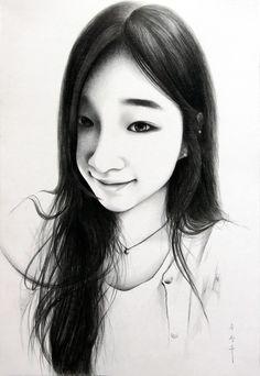 drawing / only sharp artist / sung su - song . korean 인물화, 초상화, 드로잉/송성수/An unforgettable love