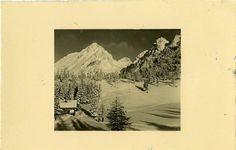 1939 Smučarska koča na Zelenici (V ozadju Vrtača) | Slovenija (eastern Alps)
