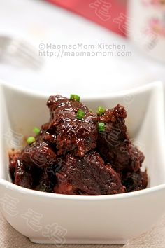 【Braised Beef Shank in Soybean Paste】 by MaomaoMom I made this braised beef shank in soybean paste for dinner..  With aid of an electric pressure cooker, this dish can be done in 45 m