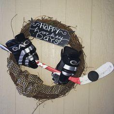 Hockey wreath; Happy Hockey Days