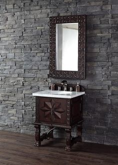 Picture Gallery For Website  inch Single Bath Vanity Cabinet Antique Walnut Finish