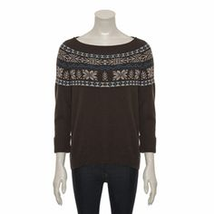 Freesoul Patterned Brown Knitted Jumper