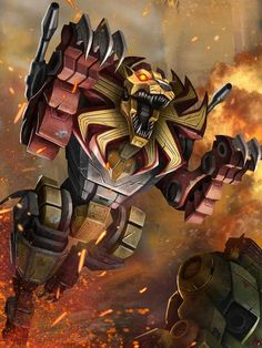 Predacons Leader Razorclaw Artwork From Transformers Legends Game
