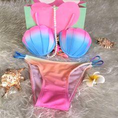 $16.66 (Buy here: https://alitems.com/g/1e8d114494ebda23ff8b16525dc3e8/?i=5&ulp=https%3A%2F%2Fwww.aliexpress.com%2Fitem%2F2016-New-Beach-Bikini-Sports-Swimwear-Women-Shell-Swimsuit-Sexy-Biquini-Women-Fashionable-Push-Up-Swimsuit%2F32697101409.html ) 2016 New Beach Bikini Sports Swimwear Women Shell Swimsuit Sexy Biquini Women Fashionable Push Up Swimsuit Girls Bathing Suit for just $16.66