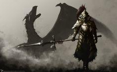 Dark Souls,песочница,Dragon slayer Ornstein,DS персонажи,DS art