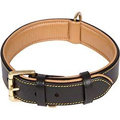 Soft Touch Collars Leather Dog Collar Black Padded for Comfort with Genuine Real Leather Best for Large Male or Female Dogs >>> Details can be found by clicking on the image. (This is an affiliate link) Dog Collars & Leashes, Leather Dog Collars, Dog Leash, Collar And Leash, Dog Harness, Dog Accessories, Dog Supplies, Real Leather, Brown Leather