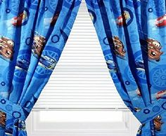 Disney 4pc Disney Cars Curtain Set Lighting Mcqueen City Limits Drapes With Tie Backs Contents