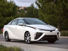 Is the To>Toyota Mirai the future of all cars? The way we power our cars is changing, The Toyota Mirai is just an example of that. It is actually a fuel cell vehicle which means it uses Hydrogen… Fuel Cell Cars, Engines For Sale, Diesel Fuel, Futuristic Cars, All Cars, Electric Cars, Cars For Sale, Dream Cars, Vehicles