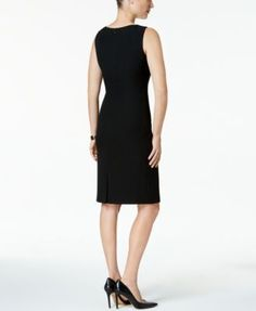 Kasper Sleeveless Sheath Dress - Black 18