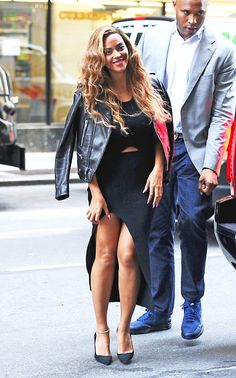 Beyoncé in a Self-Portrait dress while out in New York City. See all of the singer's best looks.