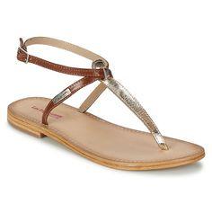 Sandale Les Tropéziennes par M Belarbi NESTA Or / Tan - Chaussure pas cher avec Shoes.fr ! - Chaussures Femme 39,90 €