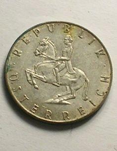 Austrian 5 Schilling Coin Republik Osterreich 1961 by JohnGermaine, $8.50
