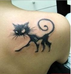 cat tattoo. Coralline cat.