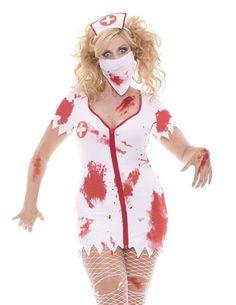Plus Size Lingere 1X 2X 3X 4X White Zombie Nurse Halloween Costume SEXY Lingerie | eBay