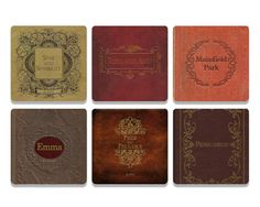 This set of 6 coasters features titles from Jane Austen's major novels. Perfect gift for fans, novel readers, Downton Abbey lovers, or anglophiles. Technicam notitia (the technical bits) - Measurement