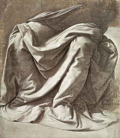DA VINCI Leonardo - - Garment study for a seated figure Michelangelo, Life Drawing, Painting & Drawing, Drapery Drawing, Portraits Pastel, Illustration Art, Illustrations, Pierre Auguste Renoir, Chiaroscuro
