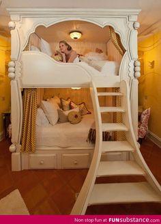 A princess bunk bed