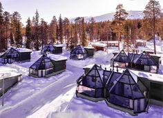 Santa's Hotel Aurora Glass Igloos - Discovering Finland