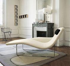 Chaise longue contemporaine / en acier / en tissu / d'intérieur LANDSCAPE'05 by Jeffrey Bernett B&B Italia