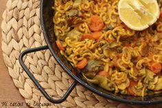 Mi cocina es Chicunini: Fideuá de verduras