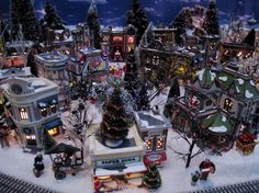 christmas mini town decorations - Google Search