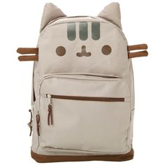 Pusheen Face Backpack | Hot Topic ($30) ❤ liked on Polyvore featuring bags, backpacks, bags/backpacks, strap backpack, padded backpack, pink backpack, strap bag and rucksack bag