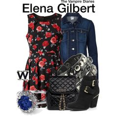 The Vampire Diaries by wearwhatyouwatch on Polyvore featuring Mela Loves London, Vero Moda, River Island, MICHAEL Michael Kors, television and wearwhatyouwatch