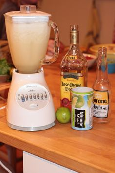 Instant Party: Beer Ritas This weekend my friends stopped over and it ended up being an unplanned girls night in. Luckily they thought to bring the makings for one of our favorite but under utilized drinks, Beer Ritas. We d… - Fresh Drinks Party Drinks Alcohol, Alcohol Drink Recipes, Cocktail Drinks, Alcoholic Drinks, Summer Drinks, Fun Drinks, Beverages, Holiday Drinks, Refreshing Drinks