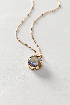 Labradorite Pendant Necklace in 14k Rose Gold by Arik Kastan #anthroregistry