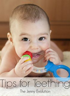 Your extra-cranky baby could be showing teething symptoms. Learn what to look for and find the best teething remedies for little mouths. Teething Signs, Teething Symptoms, Teething Relief, 4 Month Old Baby, Natural Teething Remedies, First Tooth, Baby Teethers, Baby Development, Baby Hacks