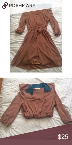 """Colony Girl Dress This dress is in A condition. It's 100% Polyester with an elastic Waistband. Arms measure at about 18"""" from shoulder. This dress is about 35"""" long Must Have Dresses Midi"""