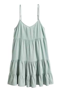 Short dress in a Tencel® lyocell and viscose weave with narrow adjustable shoulder straps and lacing at the back. Spring Fashion, Kids Fashion, Short Dresses, Summer Dresses, H&m Online, Tiered Dress, Western Outfits, Fashion Online, Lady