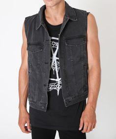 Ksubi Sleeveless Denim Jacket Size s - Denim Jackets for Sale - Grailed