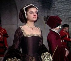 Anne of the Thousand Days - Anne Boleyn Tudor Costumes, Period Costumes, Movie Costumes, Cool Costumes, Anne Of Cleves, Anne Boleyn, Renaissance Dresses, Renaissance Fashion, Medieval Dress