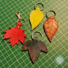 Leather Maple Leaf Key Ring Ready to Ship by BoondockStudios, $15.00