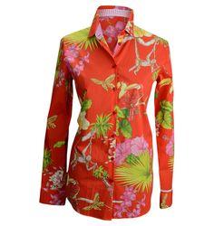 Etro tropical print blouse, $425, Balliets.