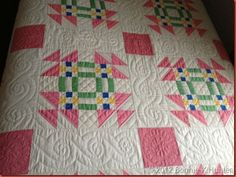 Quilting Details -- 1930's Goose in the Pond owned by Mary Koval, Bedford PA July 2012